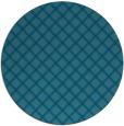 rug #638329 | round blue-green check rug