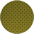 rug #638341 | round blue-green check rug