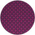 rug #638345 | round blue-green check rug