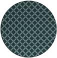 rug #638353 | round blue-green check rug