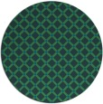 rug #638361 | round blue-green check rug