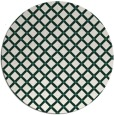 rug #638413 | round blue-green check rug