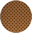 rug #638425 | round brown check rug