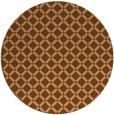 rug #638425 | round brown check rug
