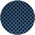 rug #638449 | round blue check rug