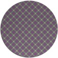 rug #638461 | round purple check rug