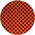rug #638469 | round red-orange check rug