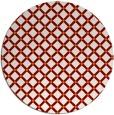rug #638473 | round orange check rug