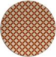 rug #638477 | round beige check rug