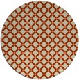 rug #638477 | round orange check rug
