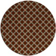 rug #638481 | round red-orange check rug