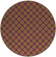 rug #638509 | round green check rug
