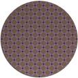 rug #638513 | round purple check rug