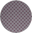 rug #638517 | round purple check rug