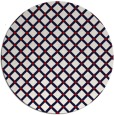 rug #638521 | round red check rug