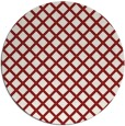 rug #638529 | round red check rug