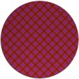 rug #638533 | round red check rug