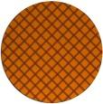 rug #638537 | round red-orange check rug