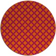 rug #638545   round red-orange geometry rug