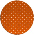rug #638549 | round red-orange check rug