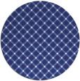 rug #638561 | round blue check rug
