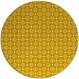 rug #638569 | round yellow check rug
