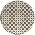 rug #638573 | round yellow check rug