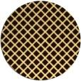 rug #638577 | round brown check rug