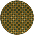 rug #638585 | round yellow check rug
