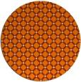 rug #638597 | round orange check rug