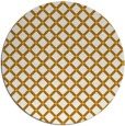 rug #638617 | round light-orange check rug