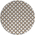 rug #638629 | round light-orange check rug