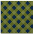 rug #639021 | square blue check rug
