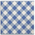 rug #639025 | square blue check rug
