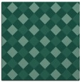 rug #639041 | square blue-green check rug