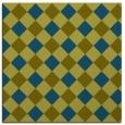 rug #639045 | square blue-green check rug