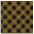 rug #639101 | square mid-brown check rug