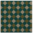 rug #639105 | square mid-brown check rug