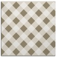 rug #639125 | square mid-brown check rug