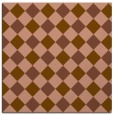 rug #639129 | square mid-brown check rug