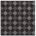 rug #639133 | square mid-brown check rug