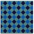 rug #639153 | square blue check rug