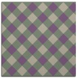 rug #639165 | square purple check rug