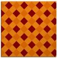 rug #639173 | square orange check rug