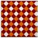 rug #639177 | square orange check rug