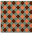 rug #639185 | square red-orange check rug