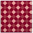 rug #639201 | square pink check rug