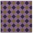 rug #639217 | square mid-brown check rug