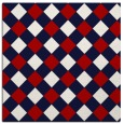 rug #639225 | square red check rug