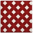 rug #639233 | square red check rug